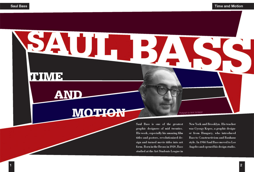 Saul Bass Book Spread