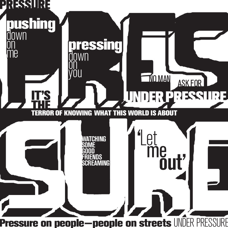 Under Pressure - Concrete Poetry