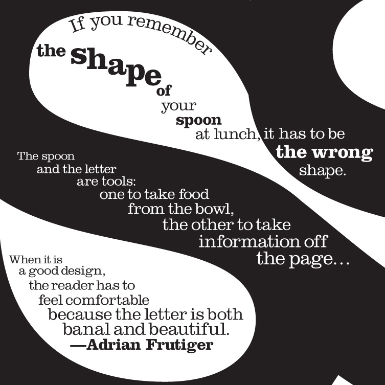 Shape of a Spoon - Concrete Poetry