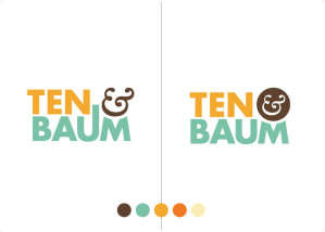 Logo design for Ten & Baum gallery.