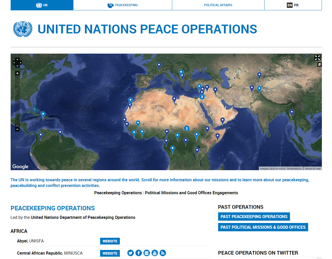 UN Peace Operations directory